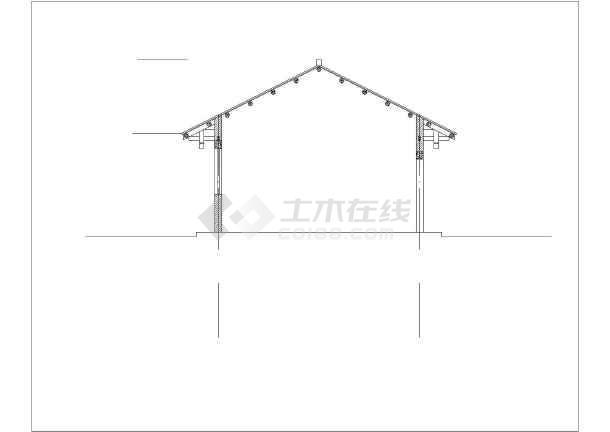 木结构仿古建筑房屋建筑设计方案图下载-土木在线