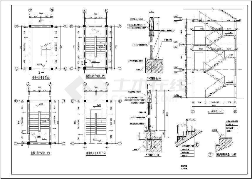 砌体结构居民别墅楼建筑,结构设计图下载-土木在线