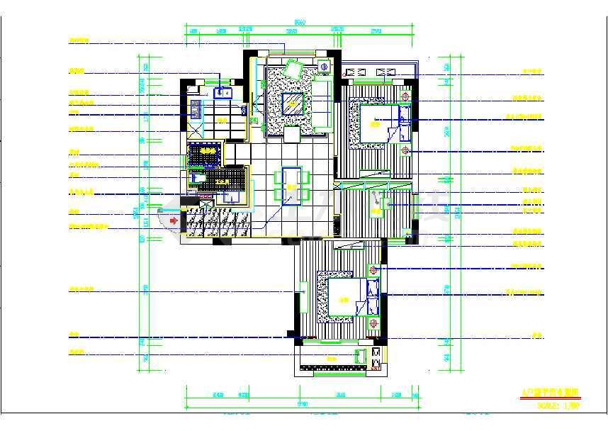 中心样板房室内装修施工图 含水电高清图片