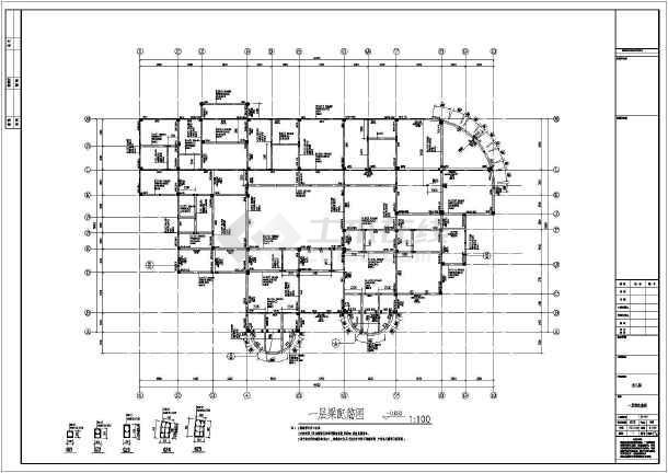 质保图纸 结构设计施工图 框架结构施工图 幼儿园/教学楼 【阜阳】