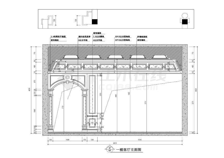 【常熟】泽景园法式风格两层独栋别墅装修施工图图片