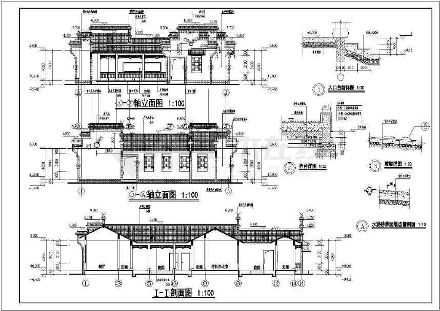 某民族特色会议室建筑结构设计施工图