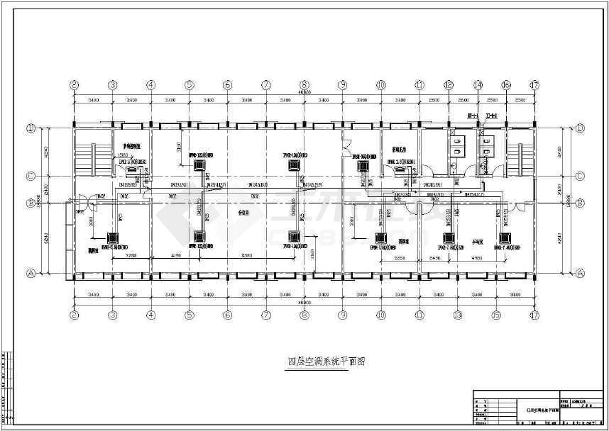 某四层办公楼多联机空调系统设计施工图