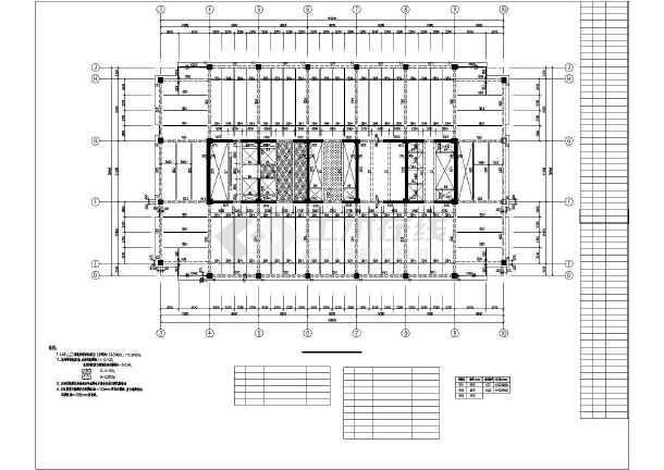 某地53层框筒结构超高层豪华大酒店结构施工图