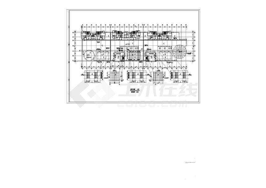 【天津】某多层楼商场建筑设计施工图纸