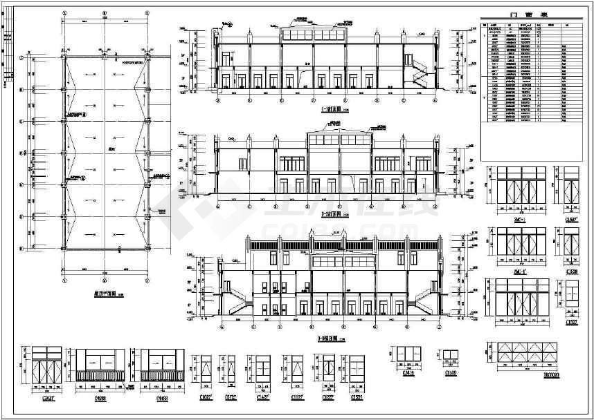 【江苏省】某地某菜场半圆与超市建筑设计施工图creo绘制钣金多层图片