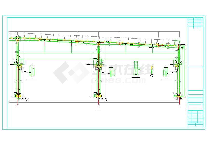 20米x12米x3米钢结构厂房设计图展示