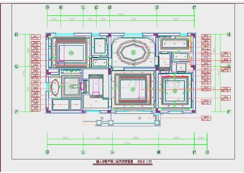 【江苏】豪华欧式风格联排两层别墅装修施工cad图