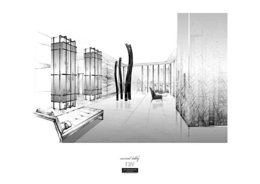 【上海】衡山路大酒店室内概念方案设计(含jpg和ppt)图片
