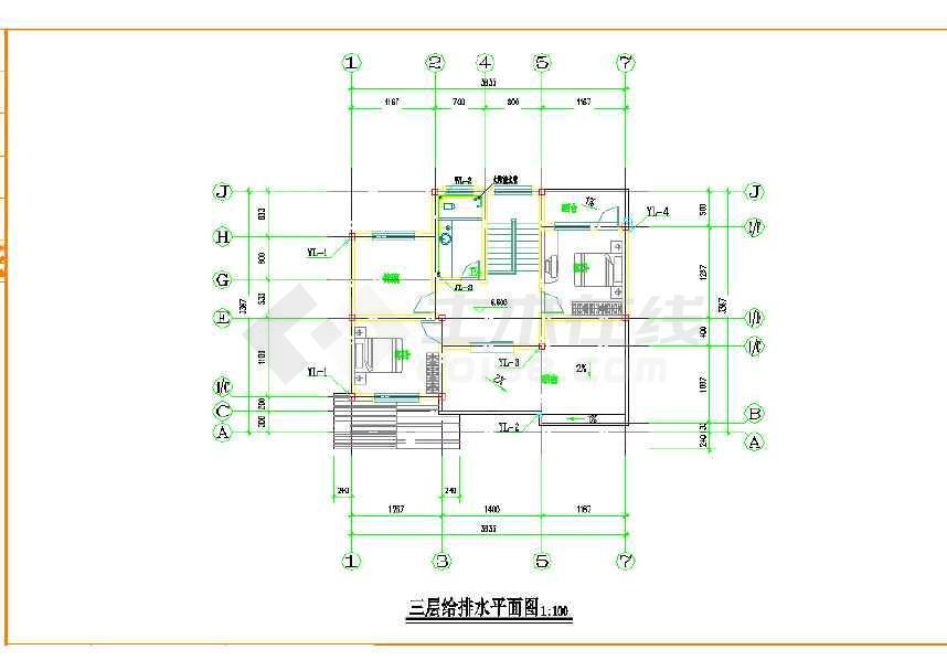 【淳安】三层砖混结构自建房别墅水电图及户型图