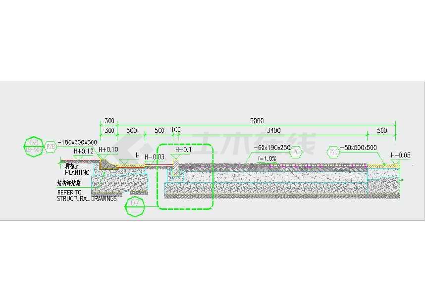 【广东】滨海高档居住区景观规划设计施工图 图纸包括:封面,目录