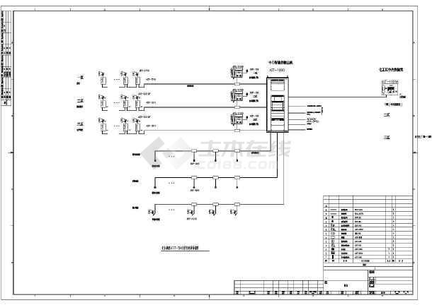 某化工项目扩音对讲系统图-图一