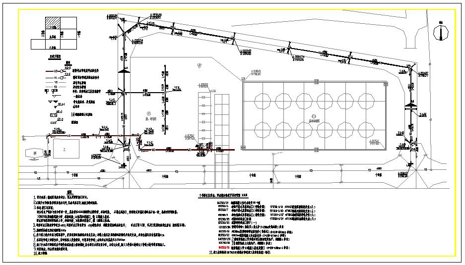 某地石化公司厂区室外给排水管线设计图图片1
