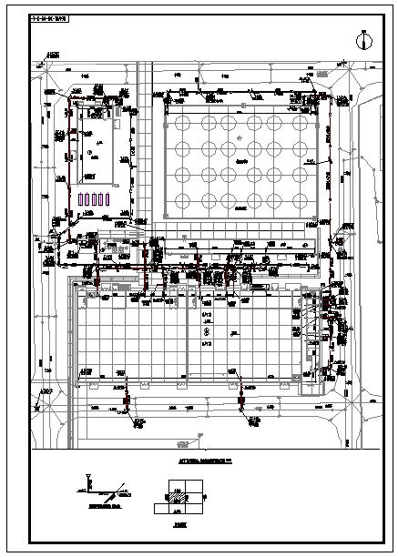 某地石化公司厂区室外给排水管线设计图图片3