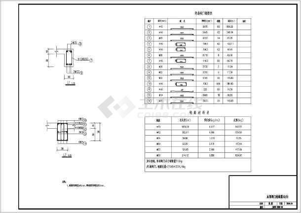 海工钢筋砼闸门配筋设计图纸-图1
