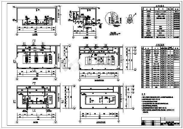 非常实用的环保工程风机房设计详图-图1