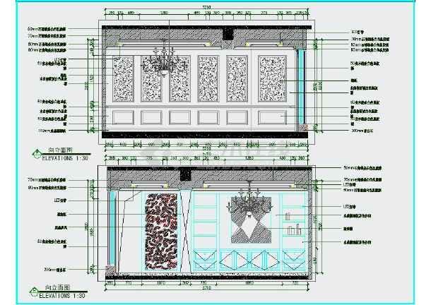 完整的欧式风格三室一厅两卫室内精装修图纸(含效果图)-图2
