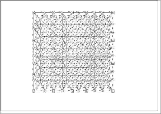 电影院剧院观众厅网架结构施工cad构造平面方案图纸(带上下弦球节点图)-图1