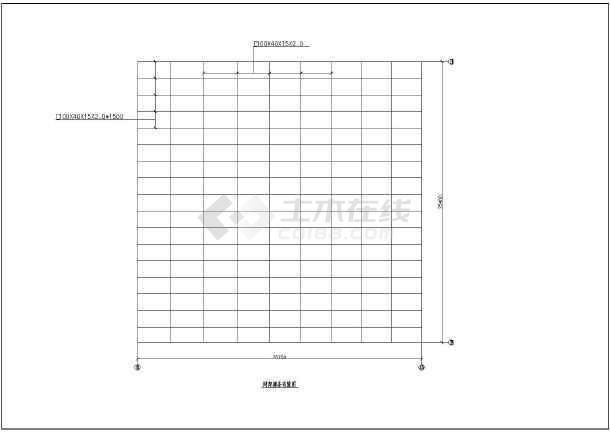 电影院剧院观众厅网架结构施工cad构造平面方案图纸(带上下弦球节点图)-图3