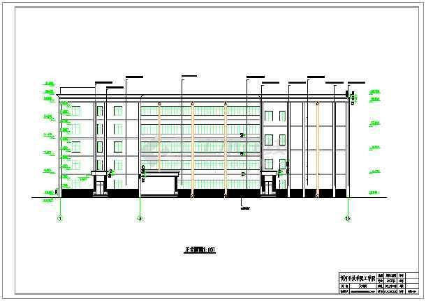 5100平米五层局部六层大学教学综合楼建筑、结构设计全套图(框架结构)毕业设计(含计算书、图纸、开题报告、任务书、课题申报表、目录、翻译、封面、摘要、)-图一