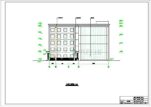 5100平米五层局部六层大学教学综合楼建筑、结构设计全套图(框架结构)毕业设计(含计算书、图纸、开题报告、任务书、课题申报表、目录、翻译、封面、摘要、)-图1