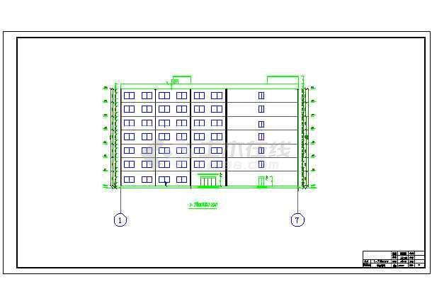 点击查看7200平米七层教学综合楼建筑、结构设计全套图(框架结构)毕业设计(计算书、任务书、封面、翻译、综述、摘要、开题报告、图纸)第1张大图