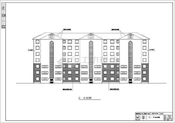 4000平米7层住宅楼建筑、结构全套设计图(现浇混凝土框架结构)毕业设计(含任务书,开题报告,计算书,封面,说明,目录,摘要,翻译,建筑图,结构图,)-图1