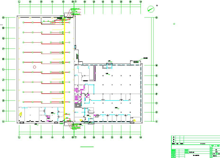 橡胶公司5400平单层钢结构厂房电气施工图(含电气外网施工图、电气总图)图片3