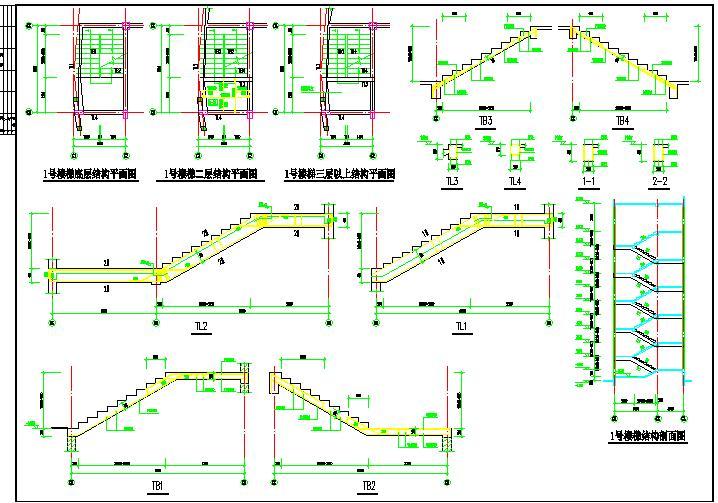 学校公寓砌体结构建筑设计CAD图纸图片1