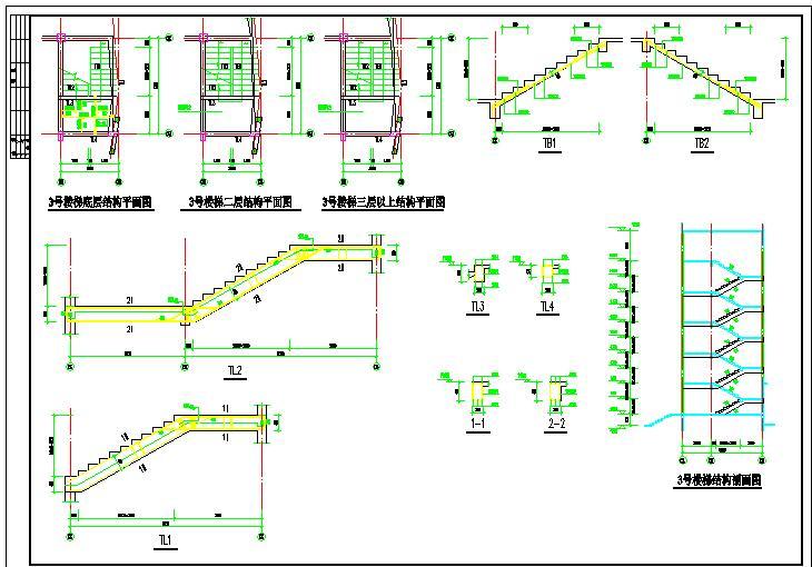 学校公寓砌体结构建筑设计CAD图纸图片2