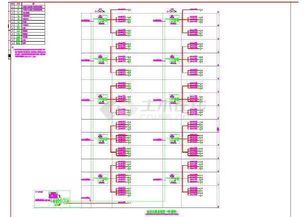 建筑智能化设计系统图及弱电系统设计cad图-图1