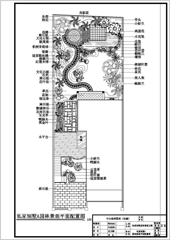 3栋别墅景观绿化施工设计cad平面布置图带效果图图片1