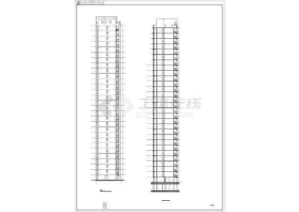 2017年最新整理3套框架剪力结构高层住宅楼建筑cad设计施工图附节能设计(含住宅楼区规划设计施工图、住宅楼户型平面设计图)-图2