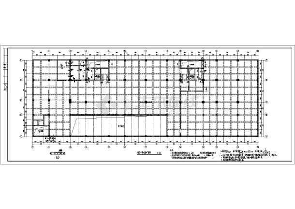 12层底商综合楼主体框剪结构施工设计cad平面方案图纸-图2
