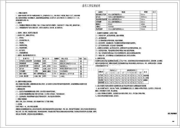 湛江某基坑支护图纸(大型、节点详细)-图1