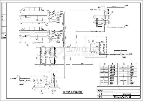 冷冻机房的原理图_冷冻机房系统图片