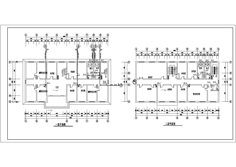 无锡某地区多层办公楼给排水设计cad图纸图片1