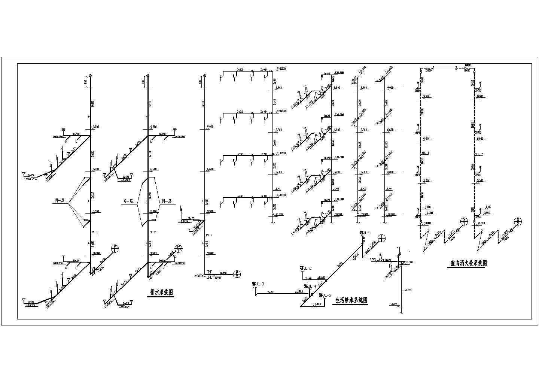 无锡某地区多层办公楼给排水设计cad图纸图片2
