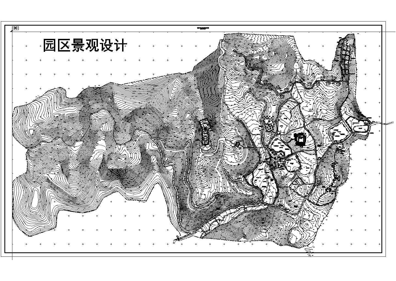 某地区农家乐景观规划建筑总平面图图片1