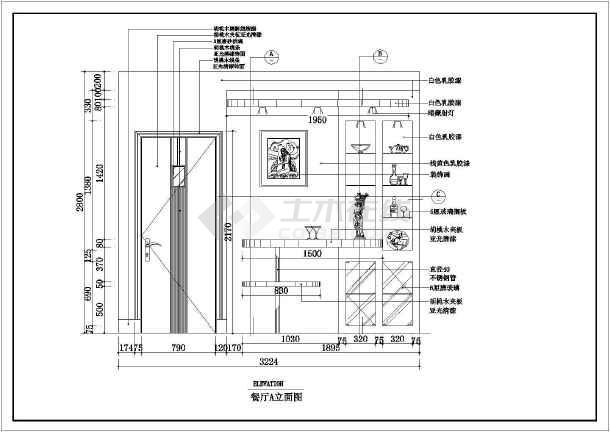 某现代住宅装修设计实感图纸(全套)-图1