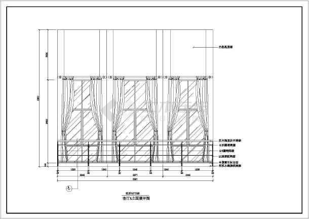 某现代住宅装修设计实感图纸(全套)-图3