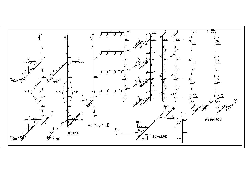 某地区多层办公楼给排水施工CAD图图片3