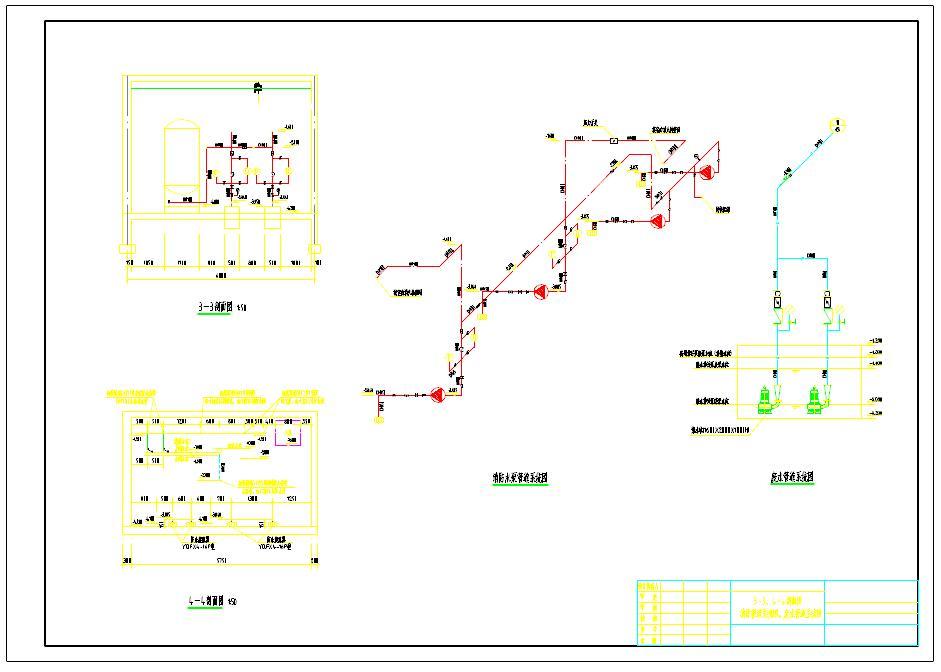 消防泵房平面图及剖面图图片1