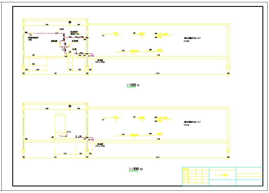 消防泵房平面图及剖面图图片2