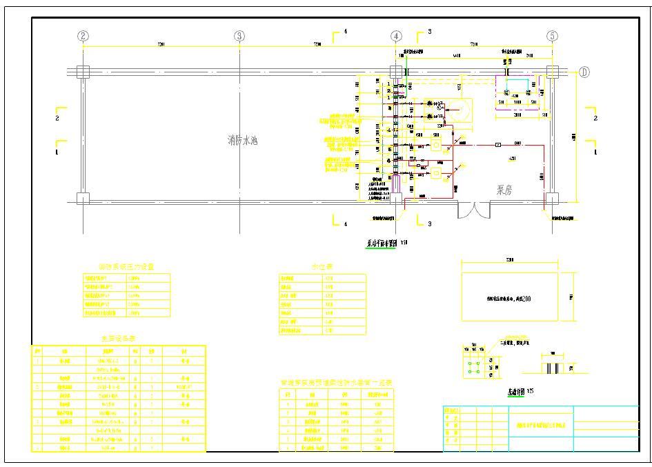 消防泵房平面图及剖面图图片3