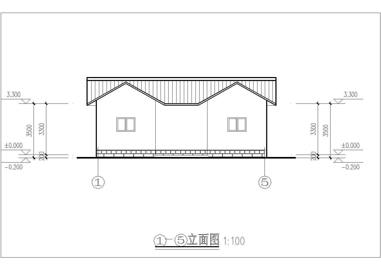 江苏省苏州园林某处公共厕所CAD设计图图片1