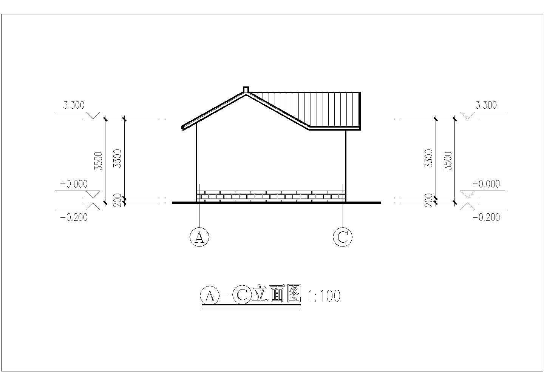 江苏省苏州园林某处公共厕所CAD设计图图片2