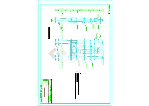 双杆变压器安装图,带高压计量-图1