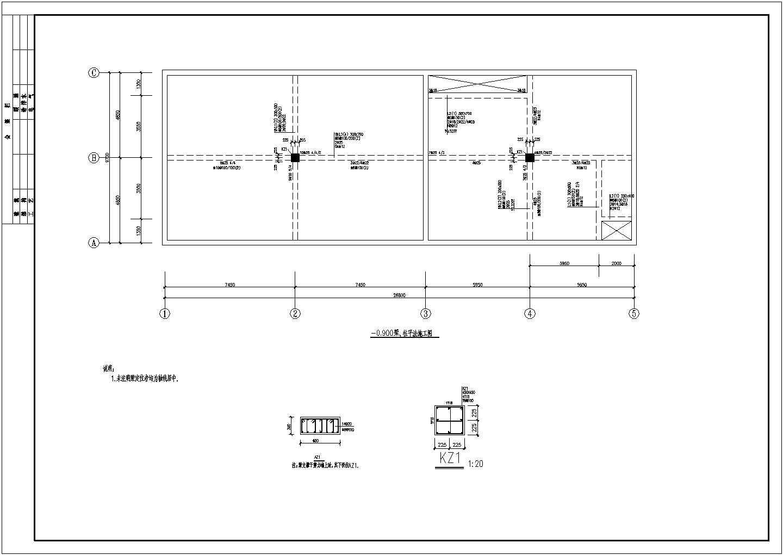某剪力墙结构消防水池建筑结构施工图图片3