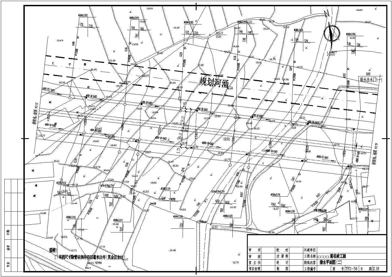 江苏省某市道路给排水管线设计CAD施工图图片2